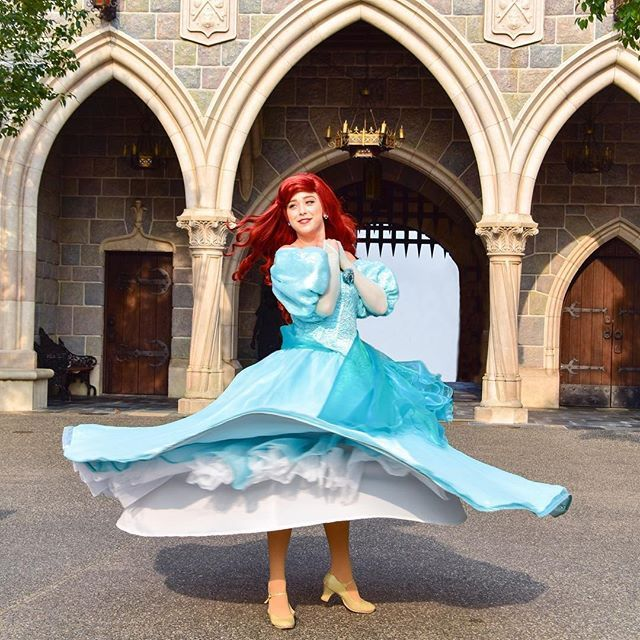 Ariel face character new dress fashion