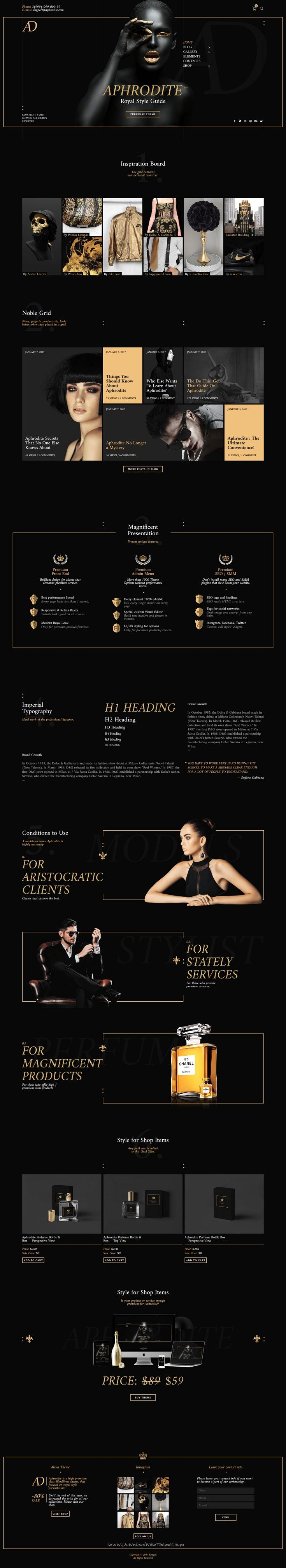 Aphrodite is a luxury responsive #WordPress theme for premium #products and #services eCommerce websites download now➩ https://themeforest.net/item/aphrodite-royal-website-style/19296664?ref=Datasata