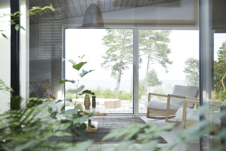 Total avkoppling i minimalistiskt skärgårdshus.