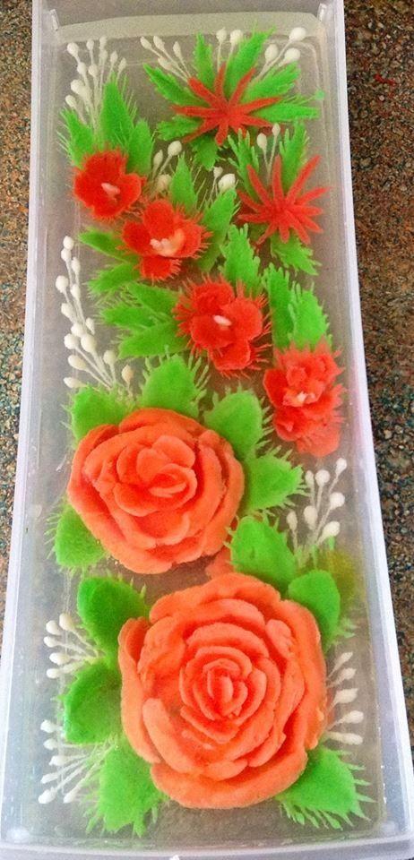 Rose jelly art