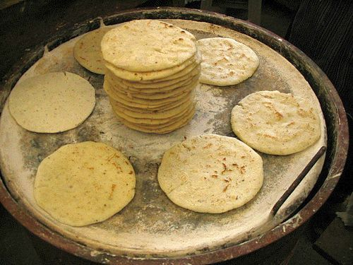 """Guate"" tortillas from fresh ground corn!"