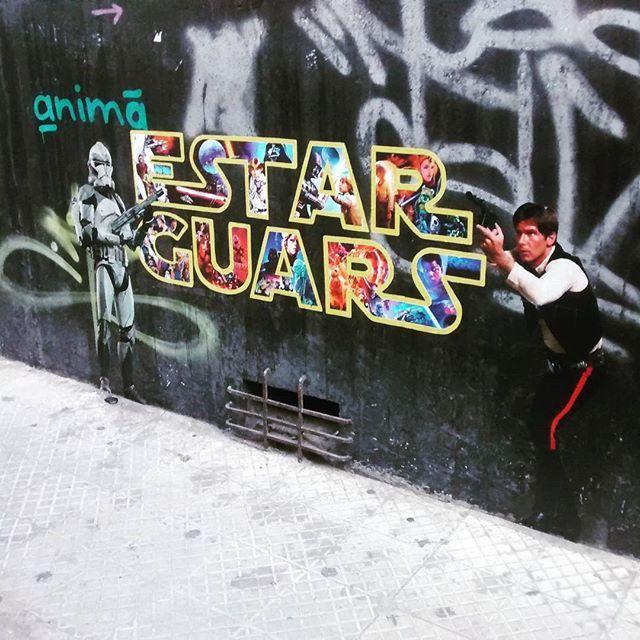 #starwars #estarguars #streetart #hansolo #stormtrooper