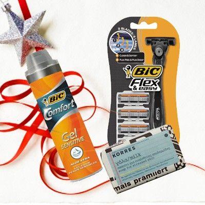Bic shaving gel + Bic ξυραφάκι + Korres σαπουνι