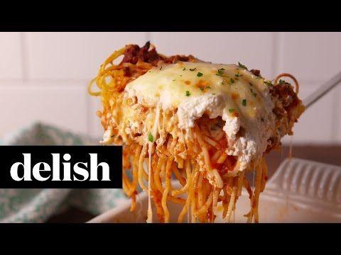 Best Spaghetti Lasagna Recipe - How To Make Spaghetti Lasagna - Delish.com