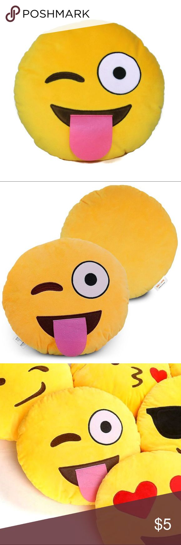 Wink naughty emoji pillow emoji biocorpaavc