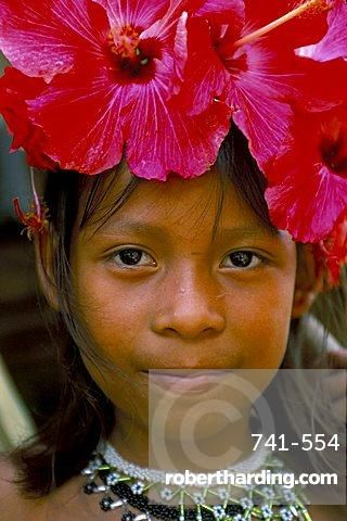 Young Embera Indian, Soberania Forest National Park, Panama, Central America
