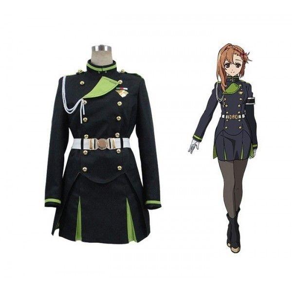 Owari no Seraph Sayuri Hanayori Costume | Cosplaywho.com ($95) ❤ liked on Polyvore featuring costumes, white halloween costumes, army costume, white costume and army halloween costumes