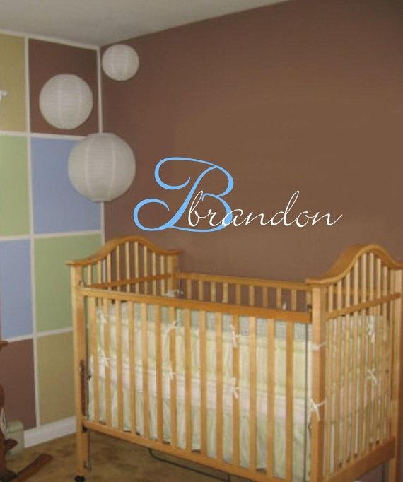 Baby Boy/Girl Name Initial Wall Decal Nursery