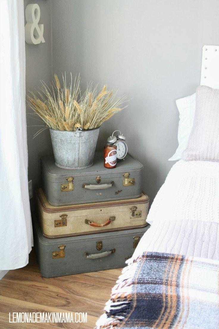 Lemonade Makin' Mama ~ suitcases - decorates for fall 2013.
