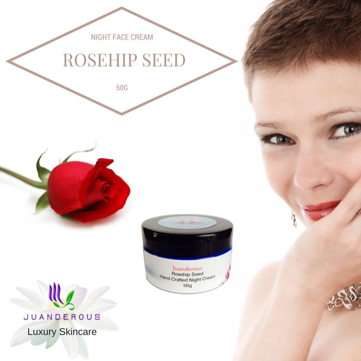 Rosehip Seed Night Face Cream 50g $35.00. Using organic rosehip seed oil and organic aloe vera in this cream, will leave your skin glowing, hydrated, rejuvenated, soft and smooth, it is gentle enough for use on the eyes too. It is the best choice for ageing skin, reducing fine lines and wrinkles, reducing the appearance of tired eyes and tightening of loosened skin.
