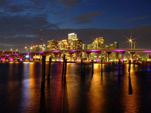Night time city girl