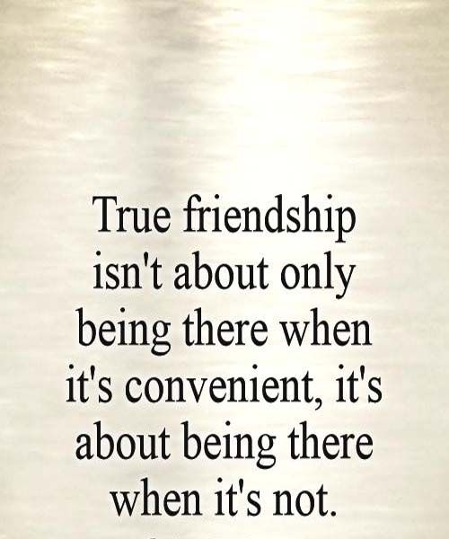 True friendship is not about