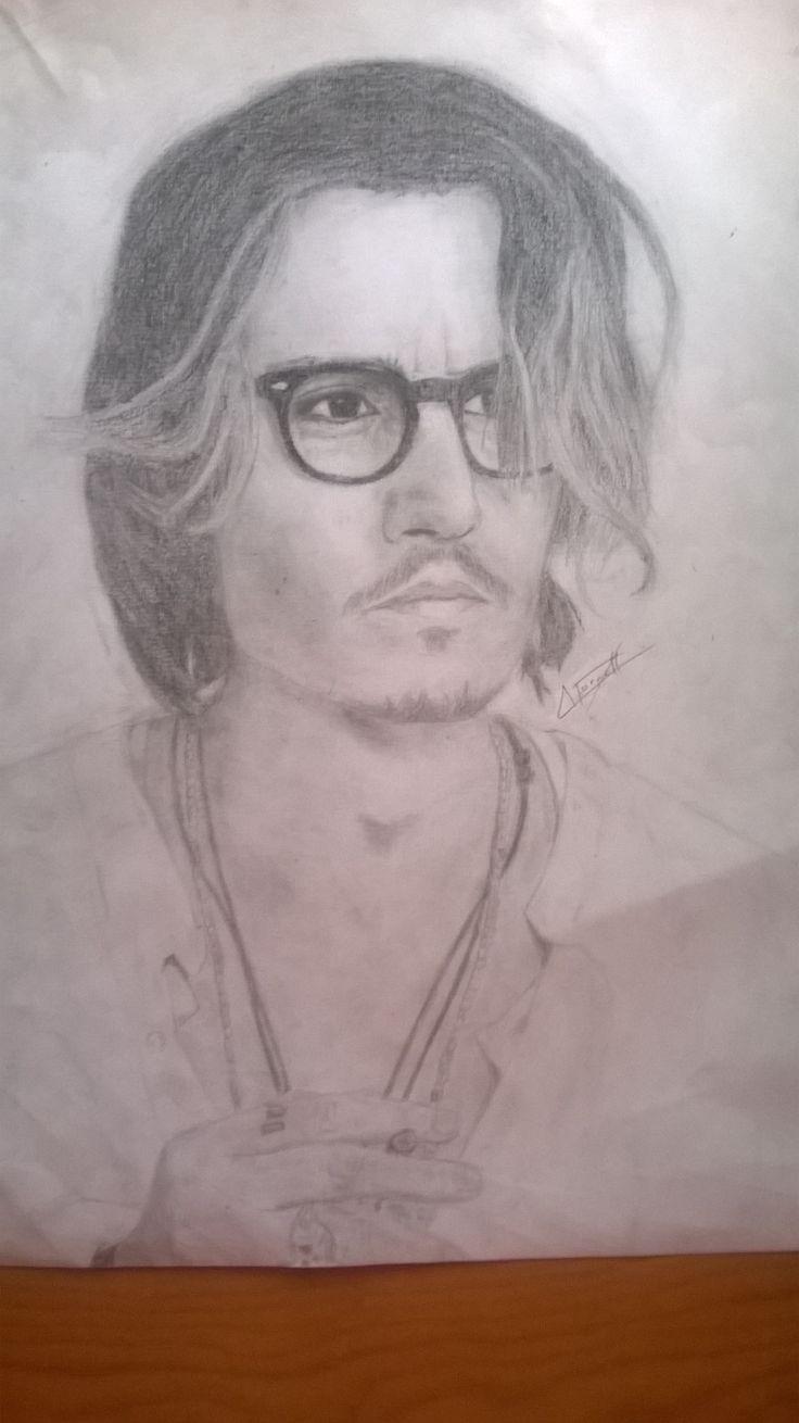 Johnny Depp a carboncillo. Sketch