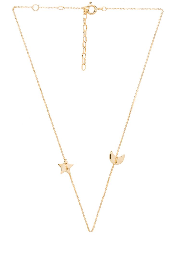 joolz by Martha Calvo Star & Moon Choker in Gold