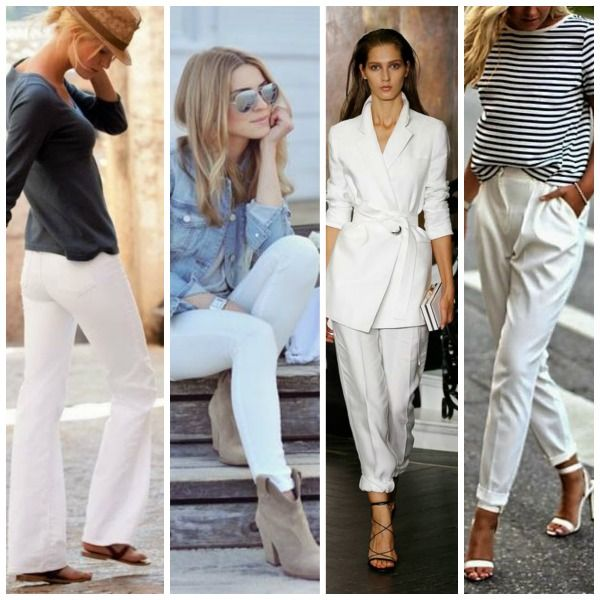 7 stijltips voor het dragen van een witte broek. Welke broek past bij jou? Een bandplooi, skinny, bootcut, chino, 7/8, straightfit of capri?