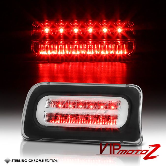 1994-2003 Chevy S10 GMC Sonoma ZR2 Chrome LED Third Brake Roof Stop Light Lamp #VIPMOTOZ