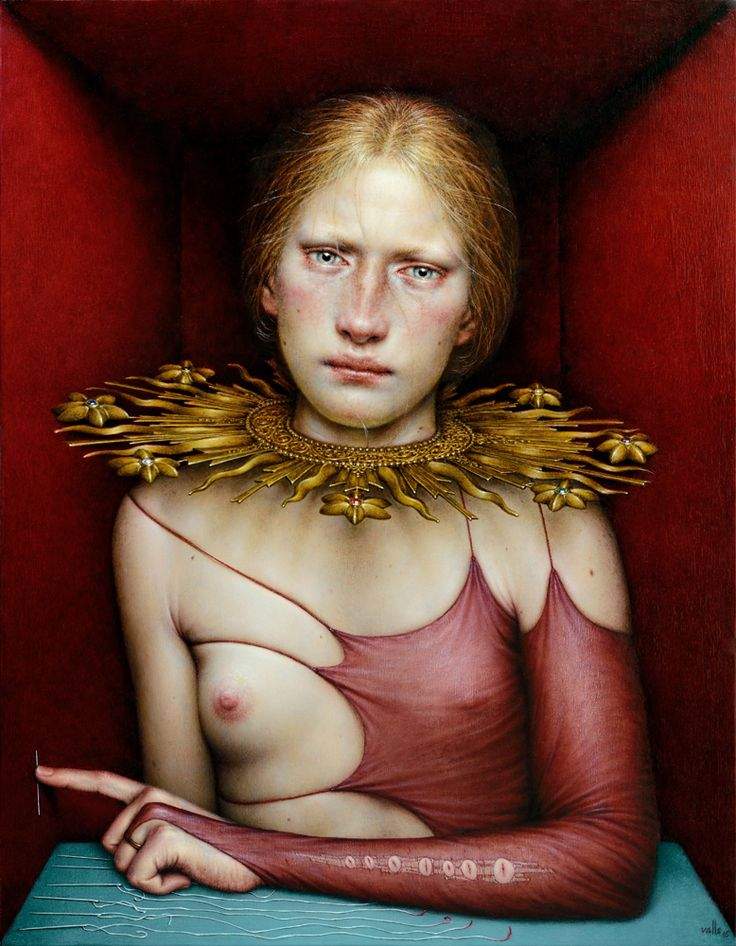 Dino Valls: LUCTUS, oil on wood, 45 x 35 cms., 2016.