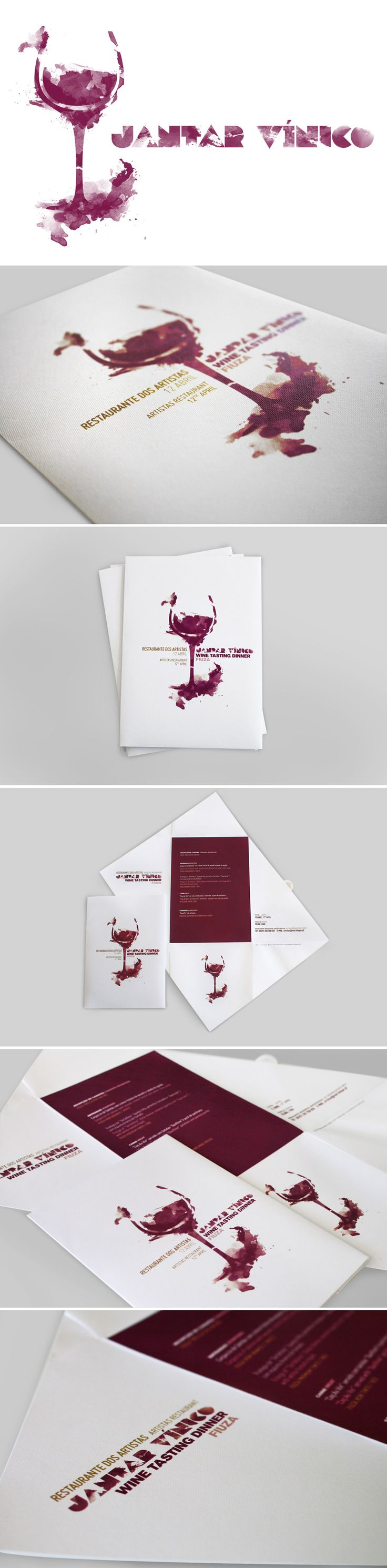 Wine Event - Jantar Vínico invitation Design by Elisabete Calixto #stainsO #cMaroon