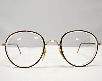 Vintage 1980's RALPH LAUREN Eyeglasses Tortoise Metal Frames with Case / Model# Polo Classic IV / Frame Italy / Retro Collectable Rare