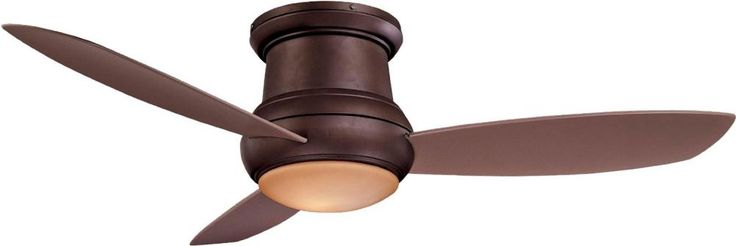 """52"""" Concept II Ceiling Fan in Oil Rubbed Bronze w/ Taupe Blades and Pietra Glass - Minka Aire - F474-ORB  http://shopazteclighting.com/brand-minka-aire/concept%C2%99-ii-wet-flush-mount-(includes-full-function-wall-control-system--cap-for-non-light-use)-o/sku-V39-f474-orb"""