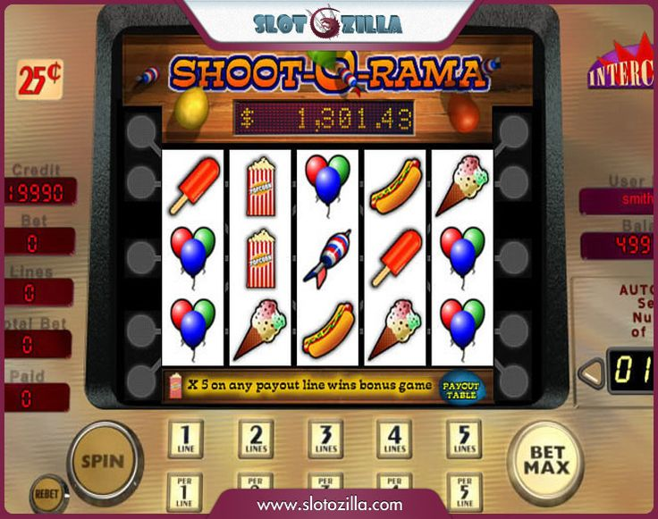 Shoot-O-Rama™ Slot Machine Game to Play Free in Cryptologics Online Casinos