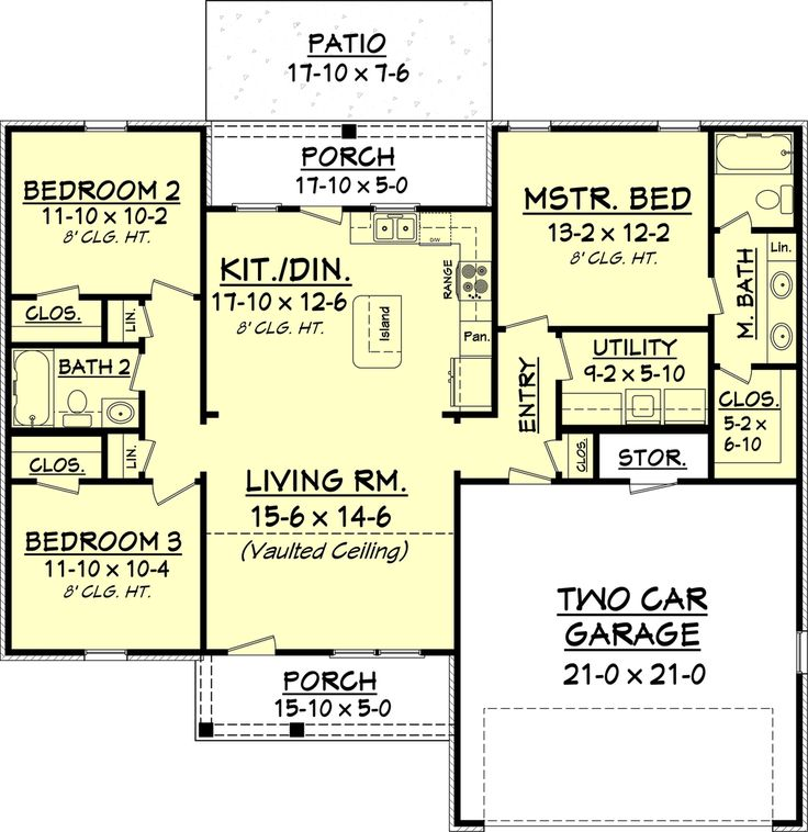 340 Best Images About House Plan Ideas On Pinterest Ranch House Plans Craftsman Style House Plans And House Floor