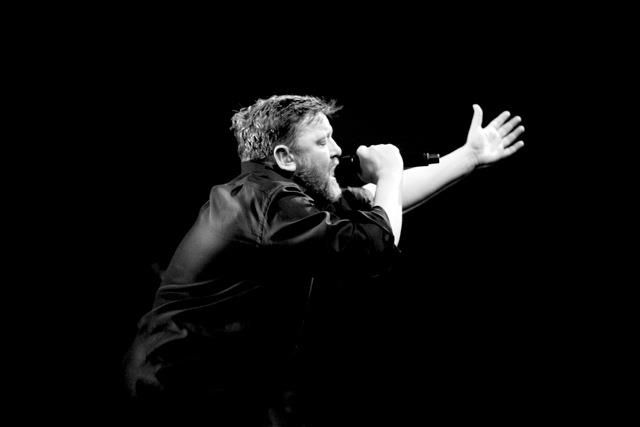 Guy Garvey of Elbow, you can see his passion and soul when he performs.