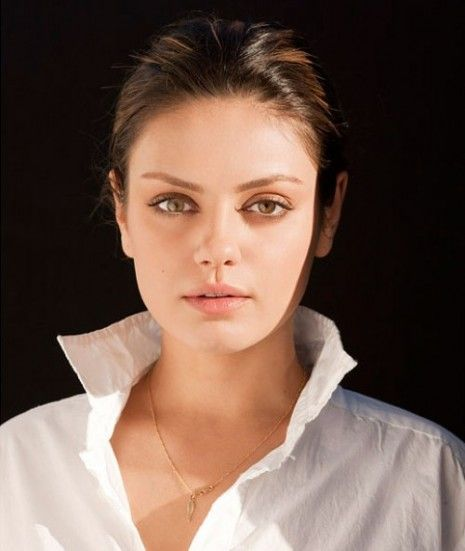 Mila...Way less makeup than usual. Will allow the popped collar