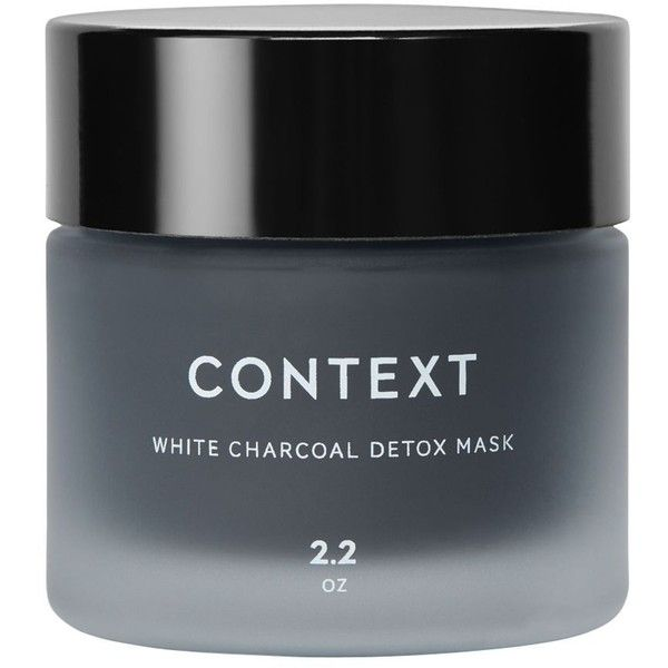 Context White Charcoal Detox Mask ($45) ❤ liked on Polyvore featuring beauty products, skincare, face care, face masks, no color, face mask, deep cleansing mask, hydrating face mask, hydrating mask and moisturising face mask