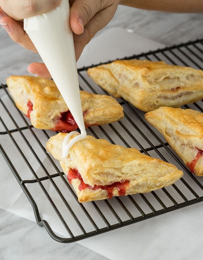 2 ingredient Cherry Turnovers using puff pastry and cherry pie filling