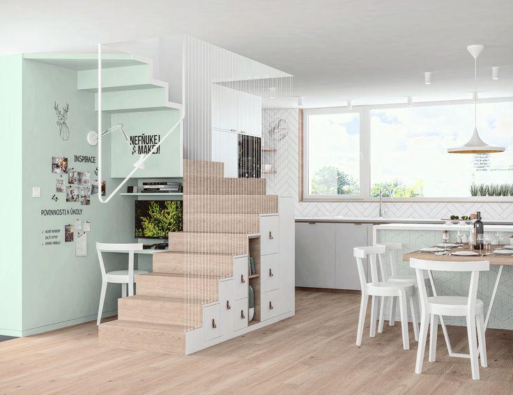 Geometric staircase design