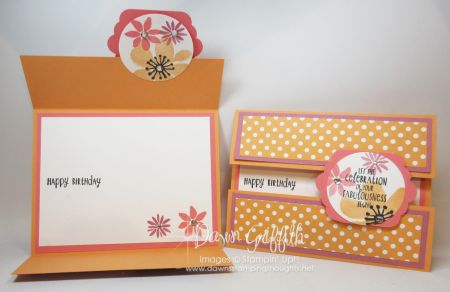 Gate Fold Peek a Boo Birthday Cards | Dawn's Stamping Thoughts | Bloglovin'
