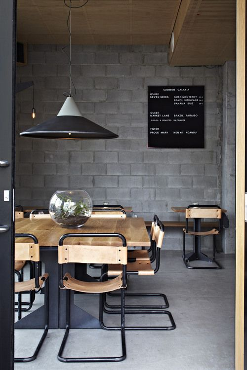 Always looking for ways to make exposed/painted bricks look homely #Design #Black #Wood #Decor