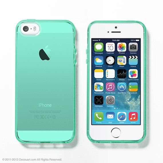 Mint Soft Clear iPhone 6 case, iPhone 5s case by Decouart $16.99