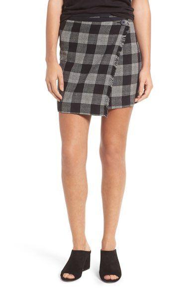 Main Image - Madewell Plaid Wrap Miniskirt