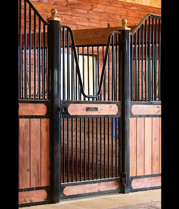 Love this style door and stall maybe if i hit the lottery for Horse stall door plans