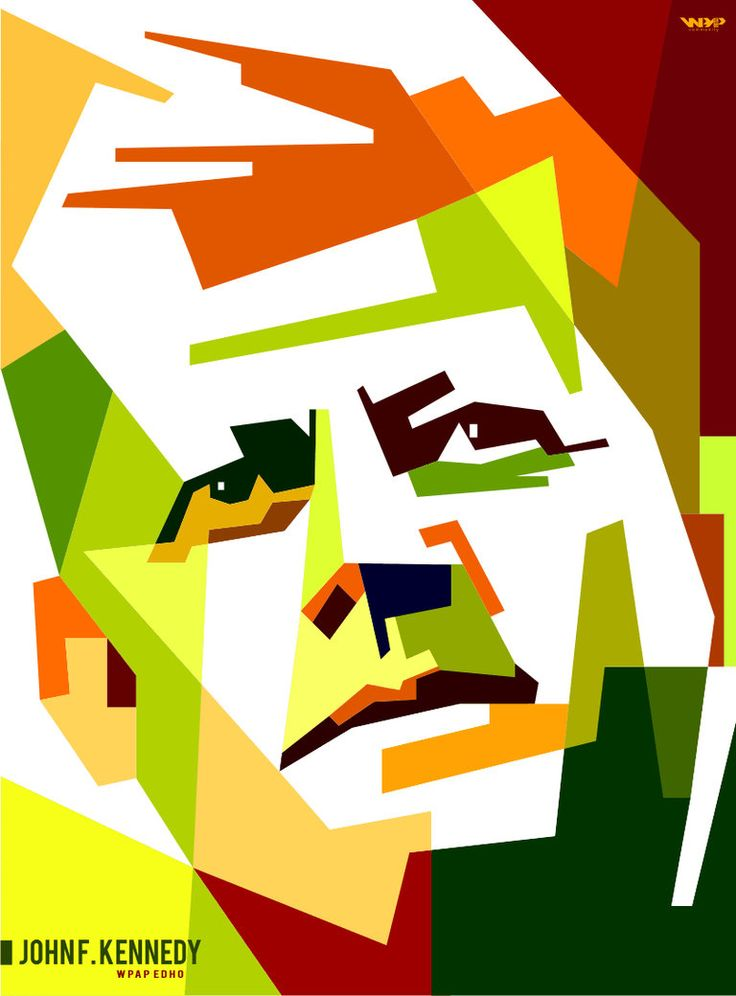 John F. Kennady in WPAP by edhoartwork on DeviantArt