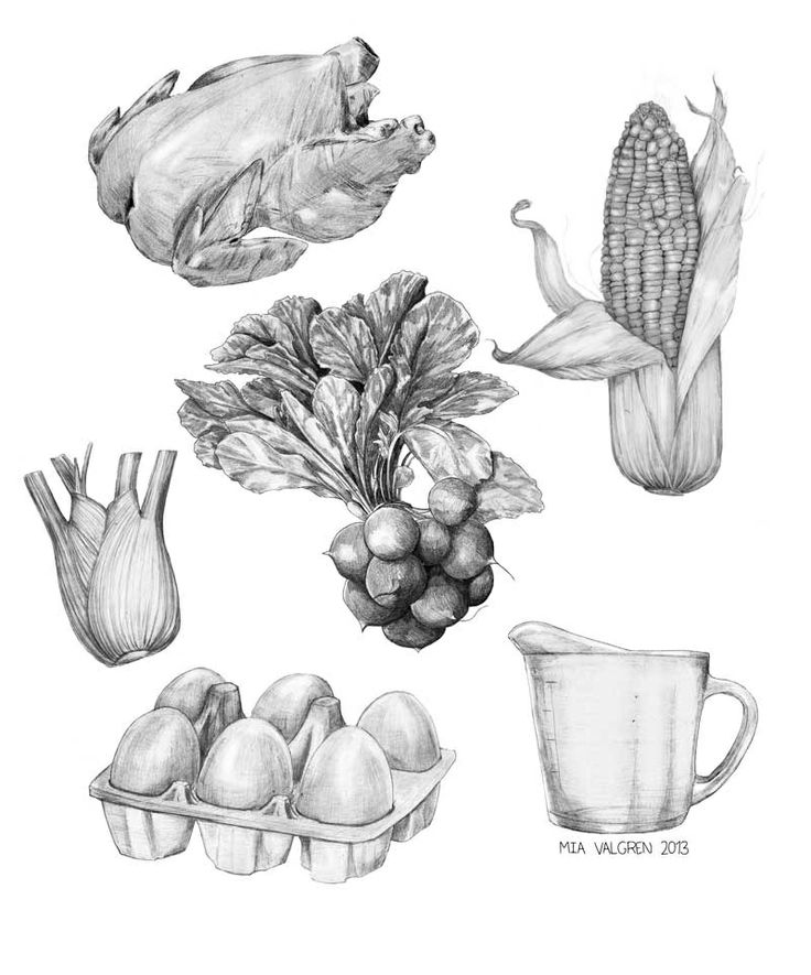 Mixed food by Mia Valgren