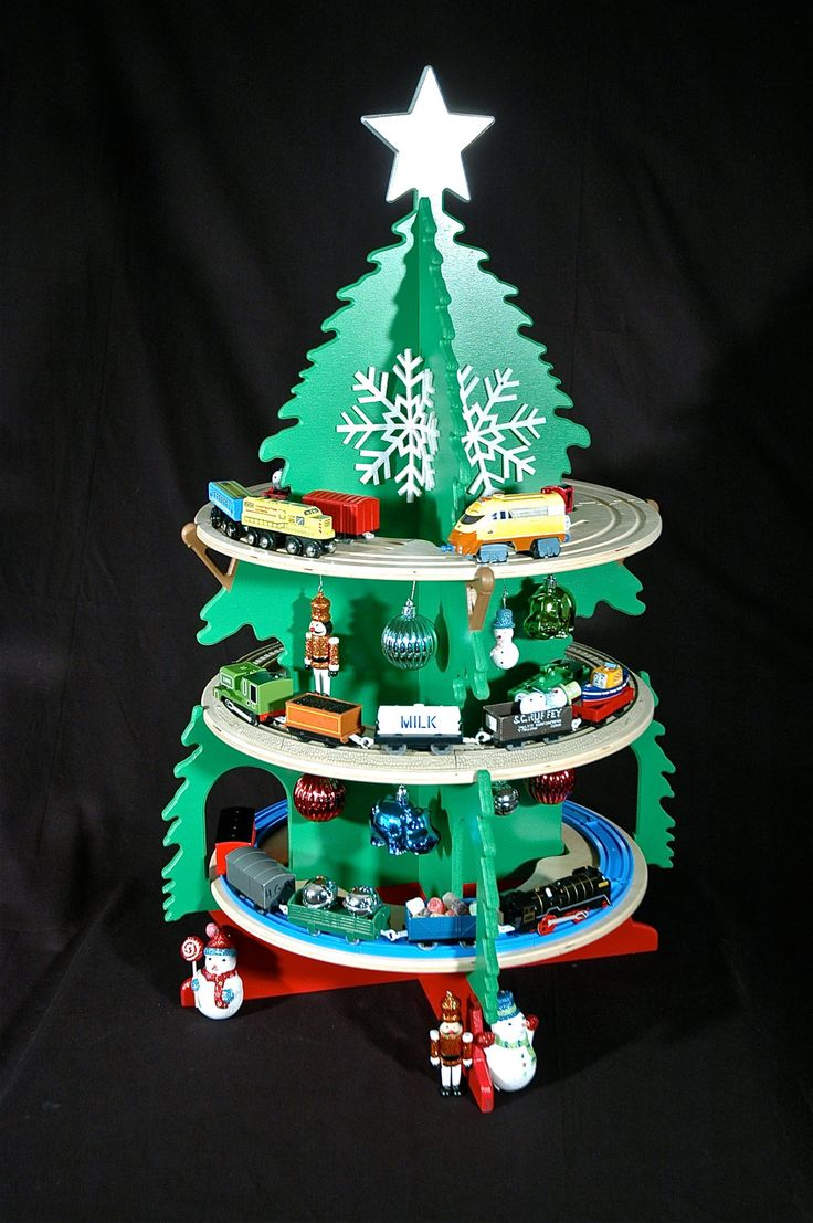 Thomas the train christmas ornament - Train Tree For Christmas Fun With Your Thomas Chuggington And Other Toy Trains