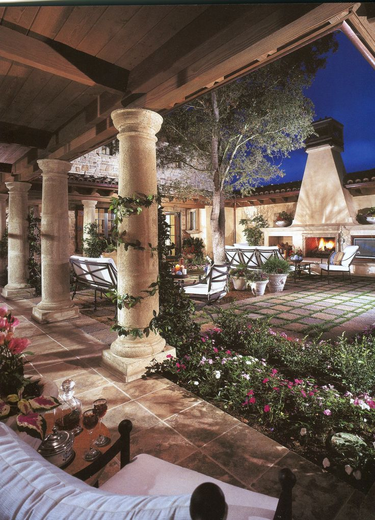 Spanish Style Patio A Great Place To Entertain Get In My