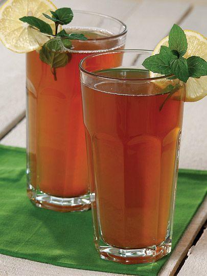 Soğuk çay, soğuk su, limon
