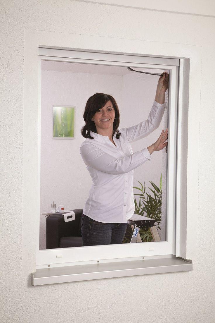 Moustiquaire pas cher pour fenetre | Moustiquaire pour fenêtre fixation velcro blanc | Moustiquaires fenêtre