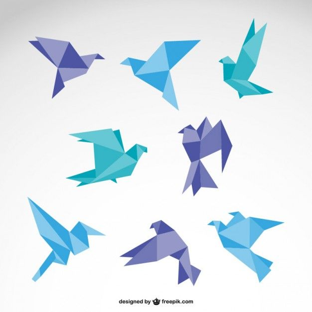 Origami logo vettoriale set gratuito