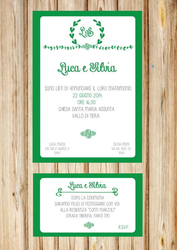 Partecipazione nozze + Invito ricevimento : Chalk Wedding Suite €12