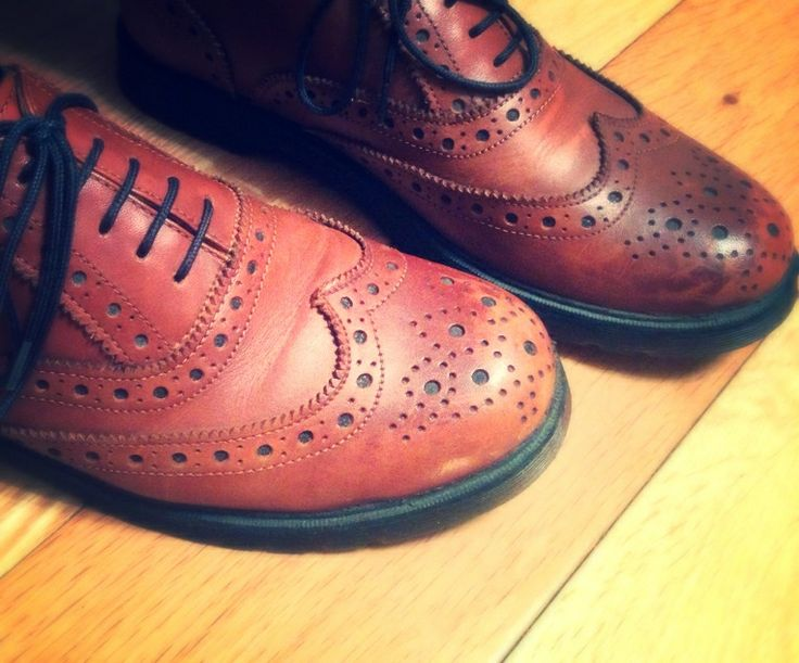 Classic brown leather brogues... Just the way we like it!