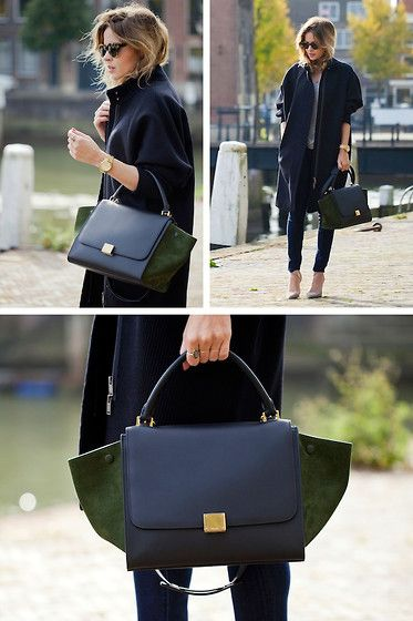 Cos Coat, Citizens Of Humanity Jeans, Karen Walker Sunglasses, Céline Trapeze Bag