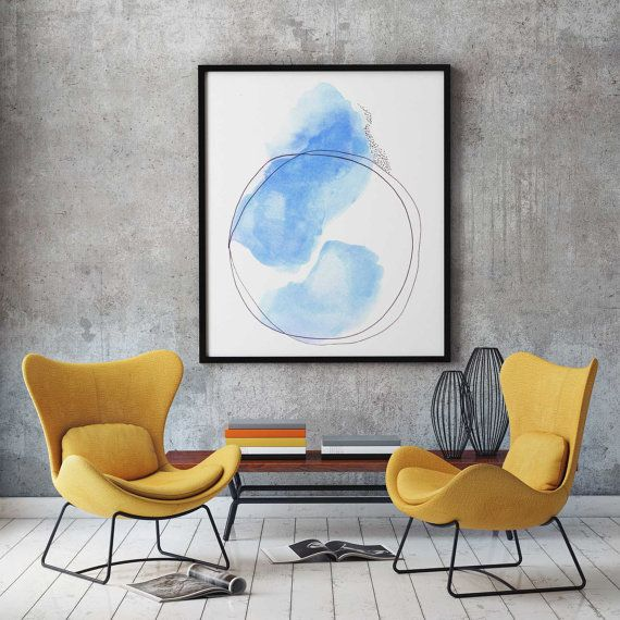 Colorful modern art print by adri luna studio this large modern art print was created in a simple scandinavian style delicately painted drawn and