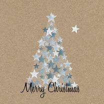 Zakelijke kerst zilveren boom - Zakelijke kerstkaarten