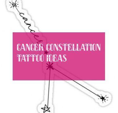 Cancer Constellation Tattoo Ideas Krebs Sternbild Tattoo Ideen –  #