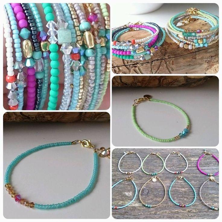 Iedereen wilt toch zulke armbanden maken? Leuk om op elkaar te stapelen! Verschillende kleuren voor verschillende outfits :)